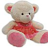 عروسک خرس پولیشی لباس صورتی