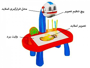 اسباب بازی پروژکتور نقاشی پایه دار