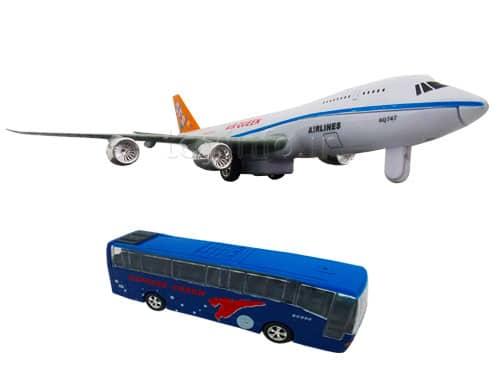 اسباب بازی , اتوبوس و هواپیما