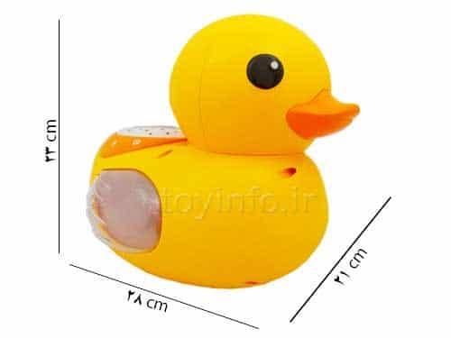 اندازه و ابعاد اسباب بازی اردک موزیکال