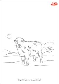 نقاشی گوسفند