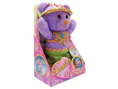 نمای جانبی از عروسک خرس نقاشی