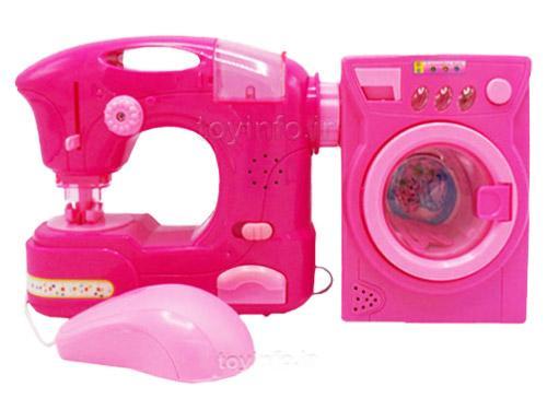 چرخ خیاطی و ماشین لباسشویی لوازم خانگی دو تکه