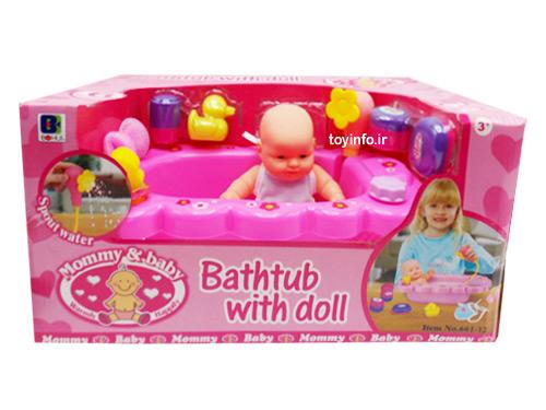 ست حمام نوزاد با لوازم زیبا