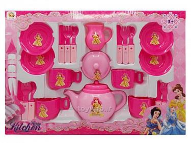 آشپزخانه صورتی شاد مناسب پذیرایی از مهمان توسط کودک,اسباب بازی دخترانه مناسب کودکان سخت پسند,آشپزخانه صورتی شاد این بار در اتاق کودکان