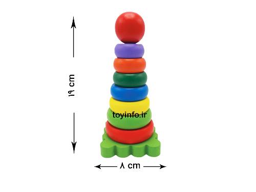 اندازه بازی فکری حلقه هوش چوبی