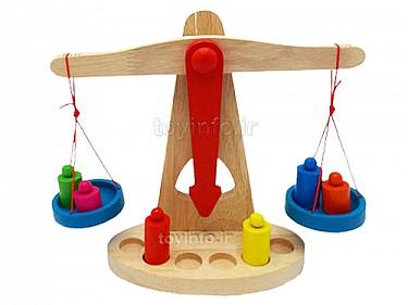 بازی فکری چوبی ,اسباب بازی آموزشی ترازو