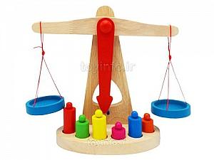 اسباب بازی آموزشی ترازو,بازی فکری و آموزشی ترازوی چوبی
