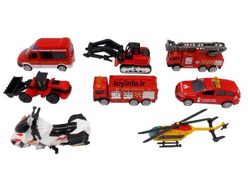 اسباب بازی , اسباب بازی پسرانه ,بسته بندی ماشین اسباب بازی فلزی آتش نشانی