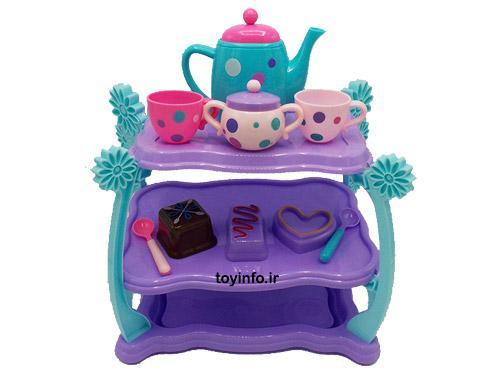 قوری و فنجانهای سرویس چایخوری دخترانه , اسباب بازی دخترانه