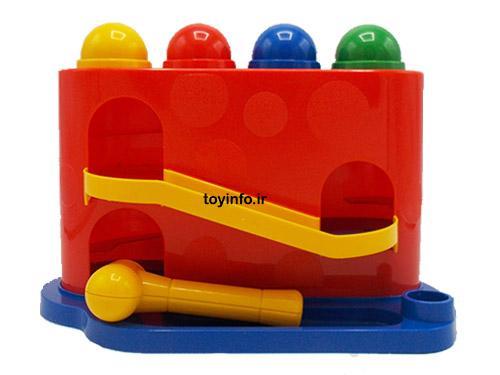 اسباب بازی آموزشی دالی توپه با رنگ های جذاب