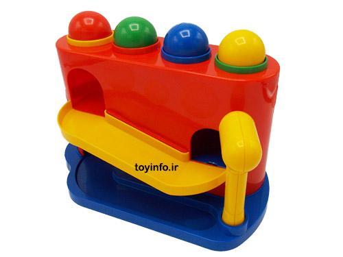 دالی توپه اسباب بازی دارای رنگ های شاد و جذاب