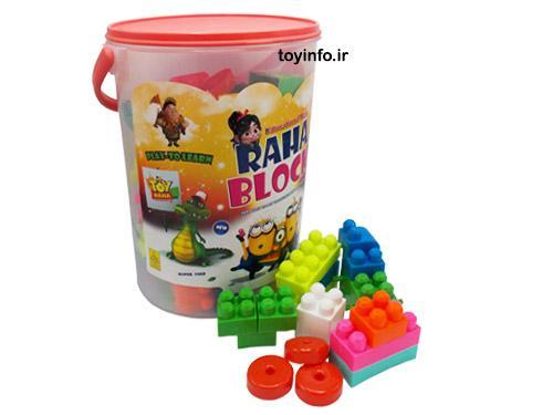 بسته بندی اسباب بازی لگو سطلی رها همراه با تعدادی از قطعات