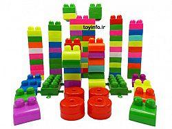 کلیه 120 قطعه اسباب بازی فکری آموزشی لگو سطلی رها