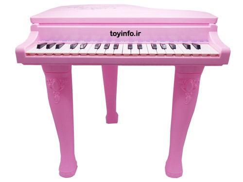 پیانو پایه دار صورتی از نمای روبه رو