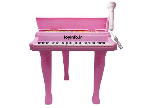 پیانو پایه دار صورتی از نمای جلو