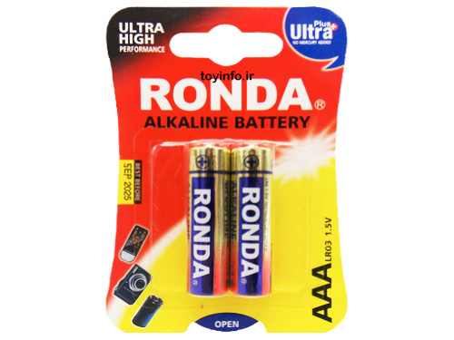 2 عدد باتری نیم قلم برای اسباب بازی
