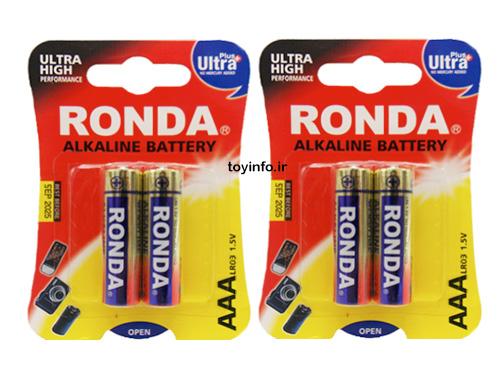 4 عدد باتری نیم قلم برای اسباب بازی