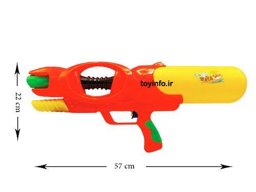 اندازه اسلحه تفنگ آب پاش مخزن دار