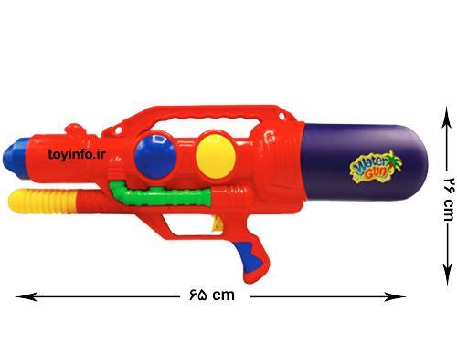 اندازه تفنگ آب پاش طوفان