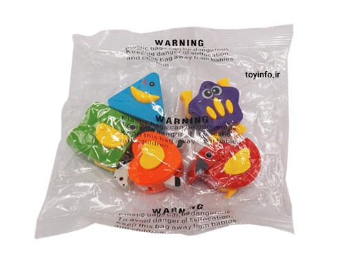 قطعات اسباب بازی در بسته بندی