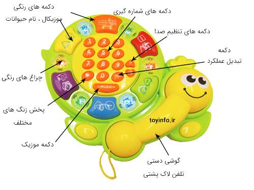 توضیح جزییات تلفن لاک پشتی موزیکال