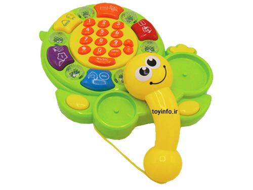 نمایی دیگر از تلفن زیبای اسباب بازی