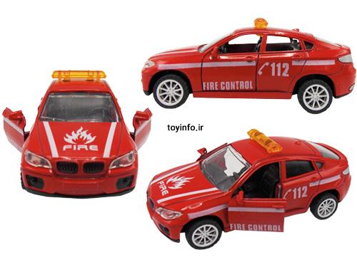 نمایی از اتومبیل آتش نشانی کوچک