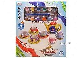ست رنگ آمیزی چایخوری , اسباب بازی دخترانه