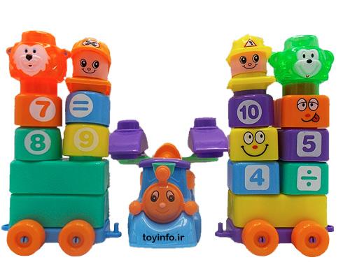 مجموعه ای از قطعات مختلف لگو اسباب بازی