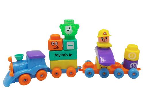 اسباب بازی لگو 60 تکه چرخ دار با قطار
