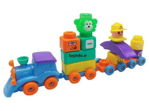 قطار اسباب بازی ساخته شده از بازی فکری لگو کیفی
