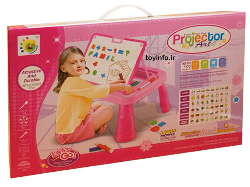 جعبه اسباب بازی پروژکتور از نمای جانبی