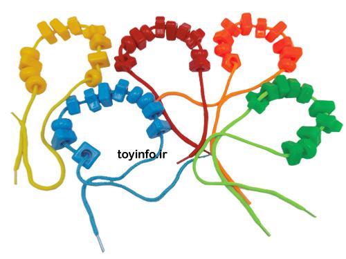 نحوه استفاده از اسباب بازی فکری نخ و مهر های رنگی