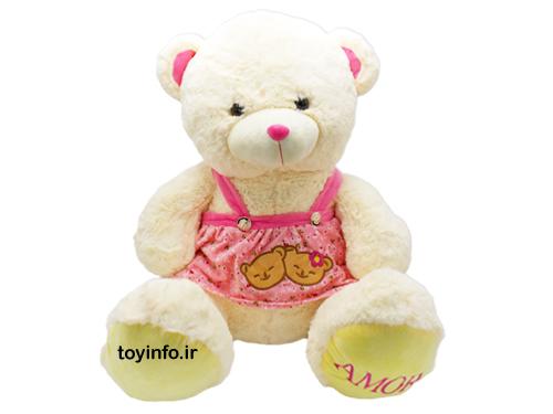 عروسک پولیشی خرس سفید , خرید عروسک پولیشی