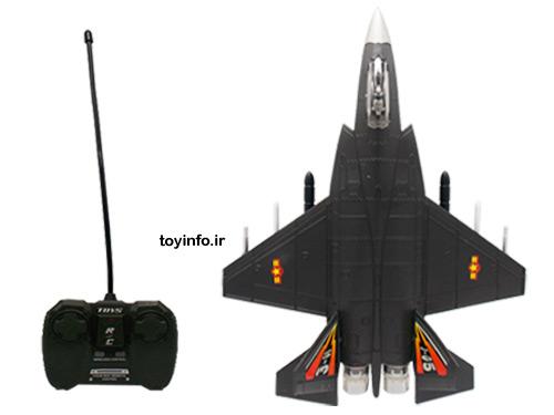 جت جنگنده کنرلی همراه با دستگاه کنترل آن در اسباب بازی فروشی اینترنتی