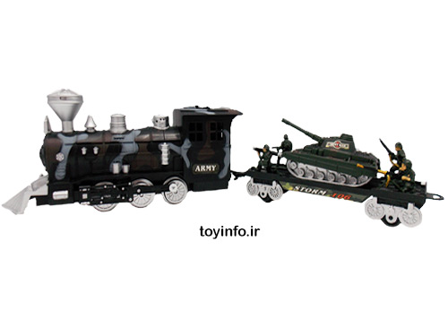 مجموعه اسباب بازی قطار نظامی مناسب برای پسربچه ها