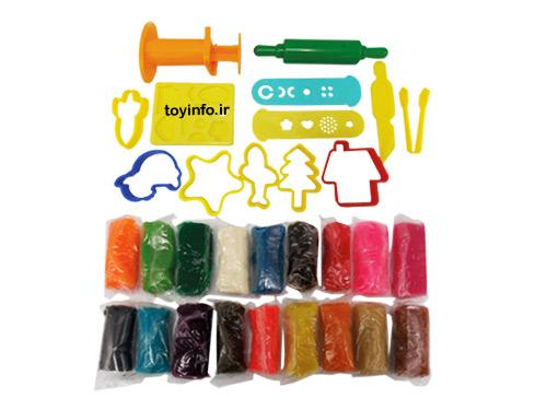 خمیر بازی با 18 رنگ مختلف