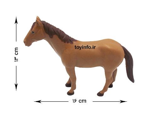 ابعاد عروسک اسب پلاستیکی