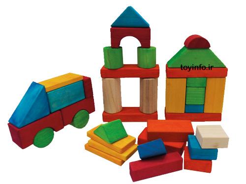 بلوک چوبی 100 عددی , اسباب بازی چوبی