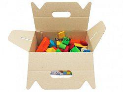 تصویری از داخل جعبه بلوک های رنگی