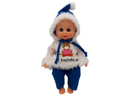 عروسک برفی با لباس کلاه دار و لگن