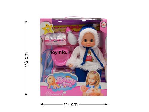 اندازه جعبه عروسک برفی