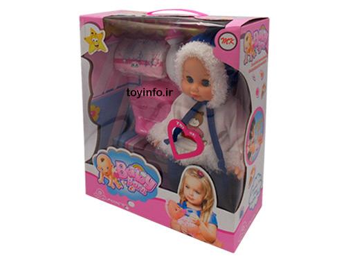عروسک برفی درون جعبه بسته بندی همراه با لوازم جانبی