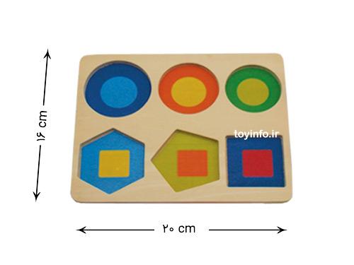 اندازه صفحه بازی فکری چوبی
