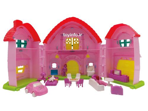 نمای داخلی خانه صورتی همراه با مبلمان خانه
