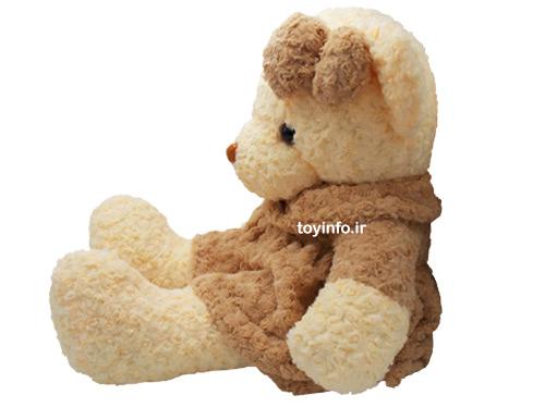 عروسک بزرگ خرس در حالت نشسته