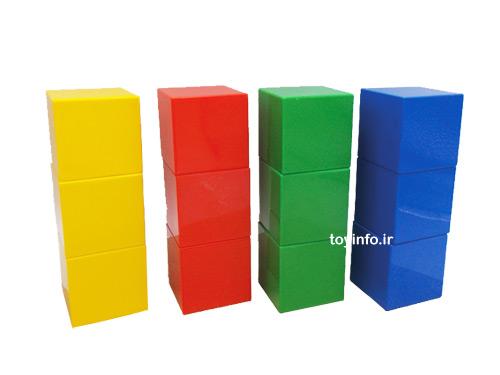 12 عدد مکعب های رنگی