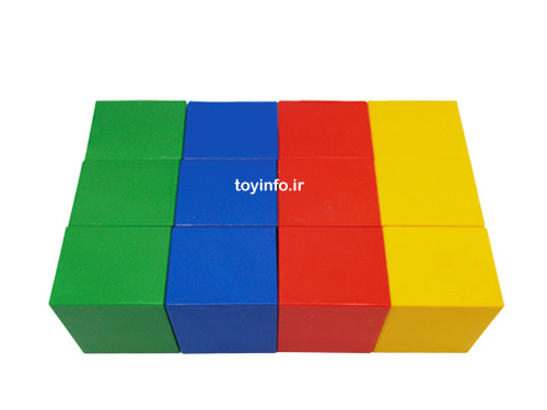 12 عدد آجره با رنگ های متنوع