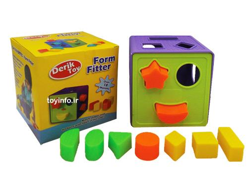 اسباب بازی مکعب فکری همراه با قطعات و جعبه آن